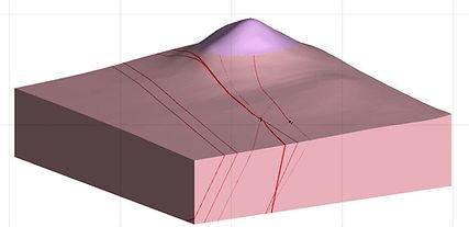 San Celso 3D geology Model, epithermal vein model