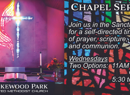 NEW:  Wednesday Chapel Services