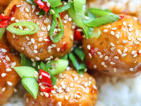 KOREAN STYLE TURKEY MEATBALLS