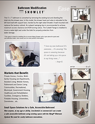 Showlet wet room accessible bathroom