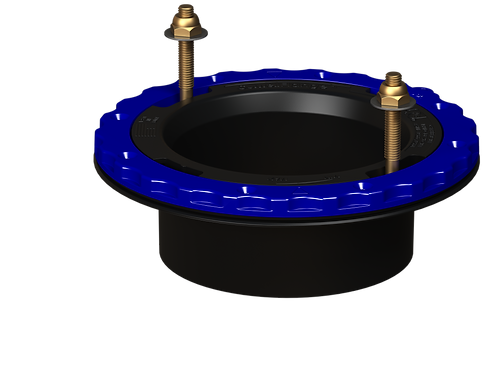 Culwell Flange 4in Hub Glue-in - ABS
