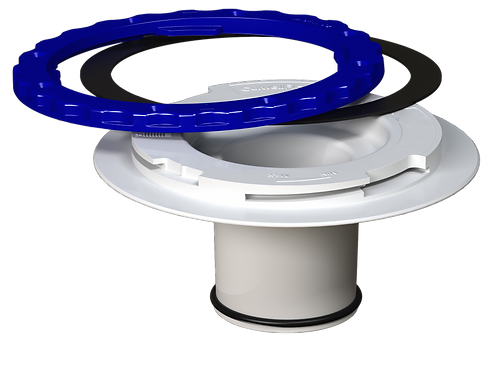 Culwell Flange 3in O-Ring Compression/ Cast Iron Replacement- PVC