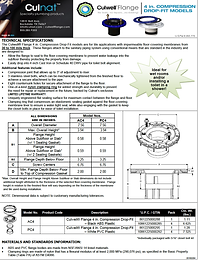 4 in. Replacement Toilet Flange - Culwell Flange