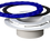 Thumbnail: Culwell Flange 4in x 3in Hub Glue-in- PVC