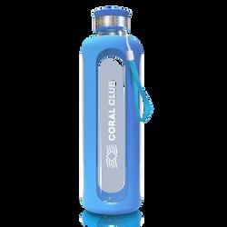 Бутылка стекло голубая