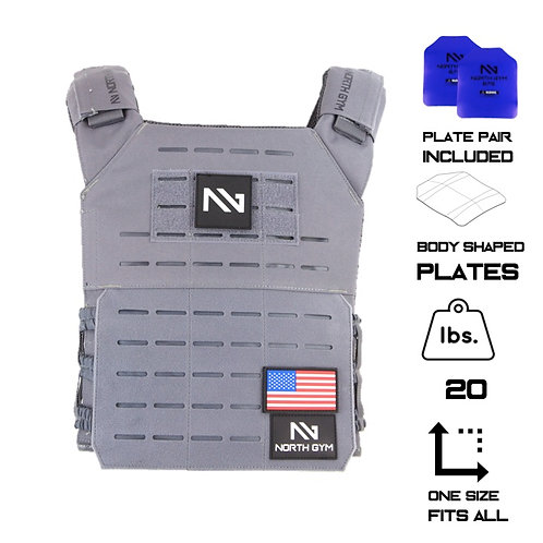 North Gym Weight Vest Gray 20lbs