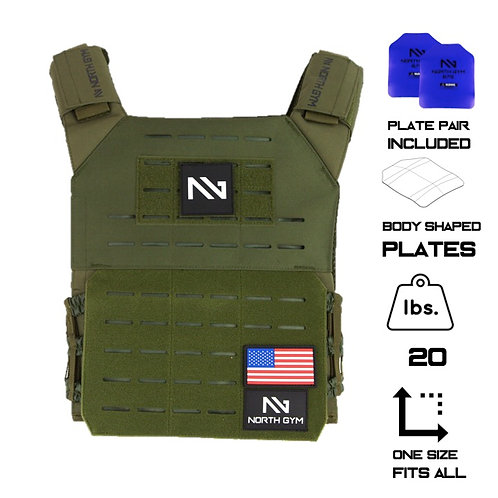 North Gym Weight Vest Green 20lbs