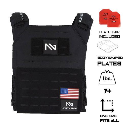 North Gym Weight Vest Black 14lbs