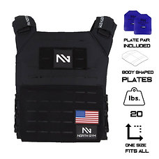 North Gym Weight Vest Black 20lbs