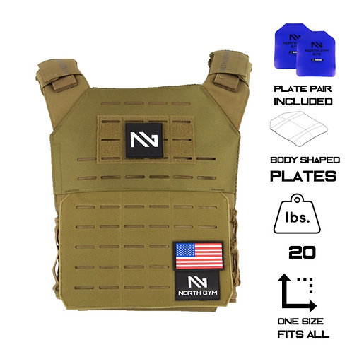 North Gym Weight Vest TAN 20lbs