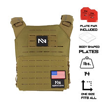 North Gym Weight Vest Tan 14lbs