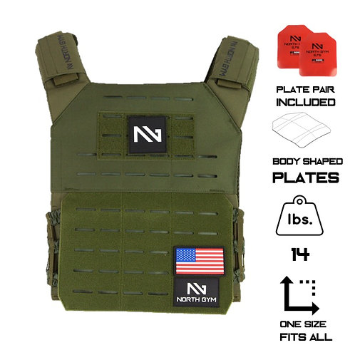 North Gym Weight Vest Green 14lbs