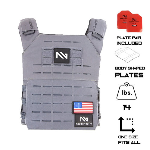 North Gym Weight Vest Gray 14lbs