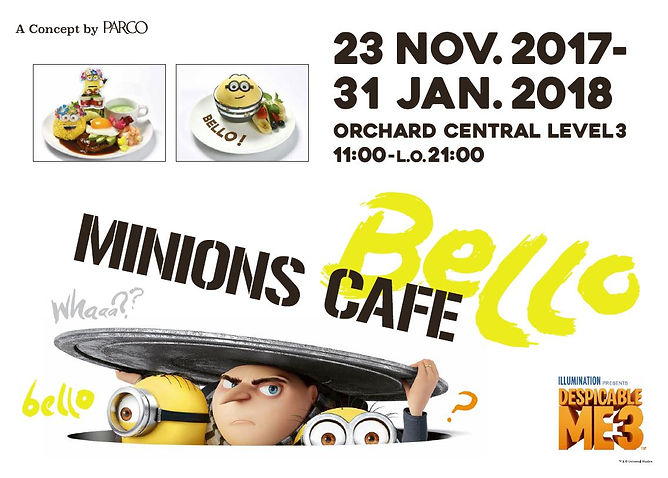 Minions Cafe Singapore Poster
