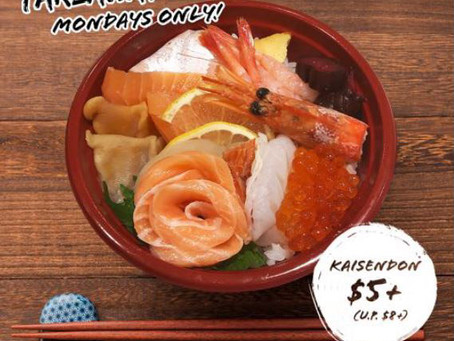 Monday Kaisendon & Sushi Promotion