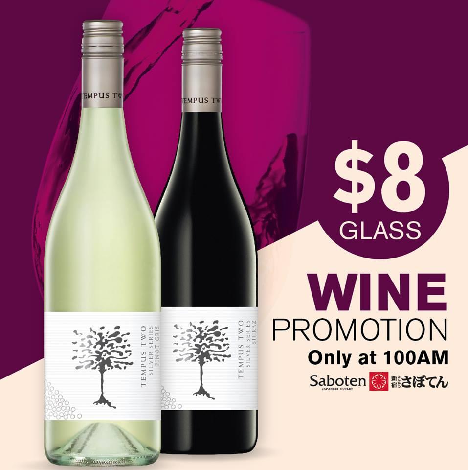 Saboten Wine Happy Hour Promotion