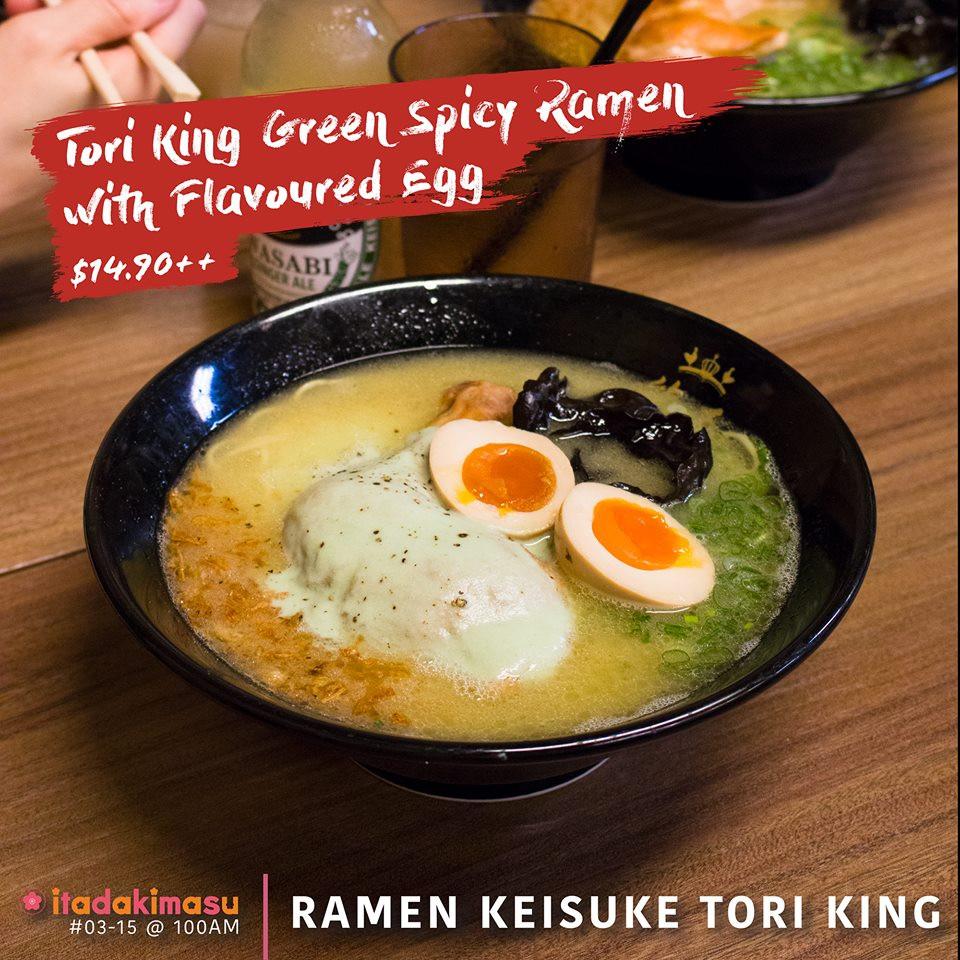 Keisuke Tori King Wasabi Ramen with Flavoured Eggs