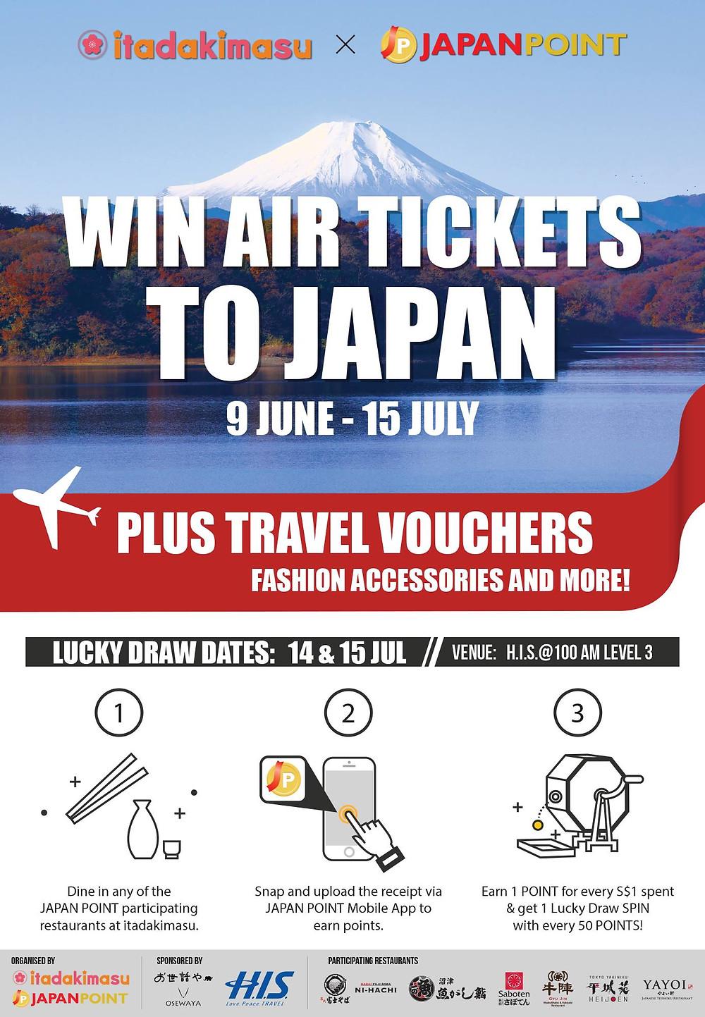 itadakimasu x Japan Point Lucky Draw Jun-Jul 2017