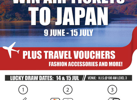 Lucky draw event: Win Air Tickets to Japan!