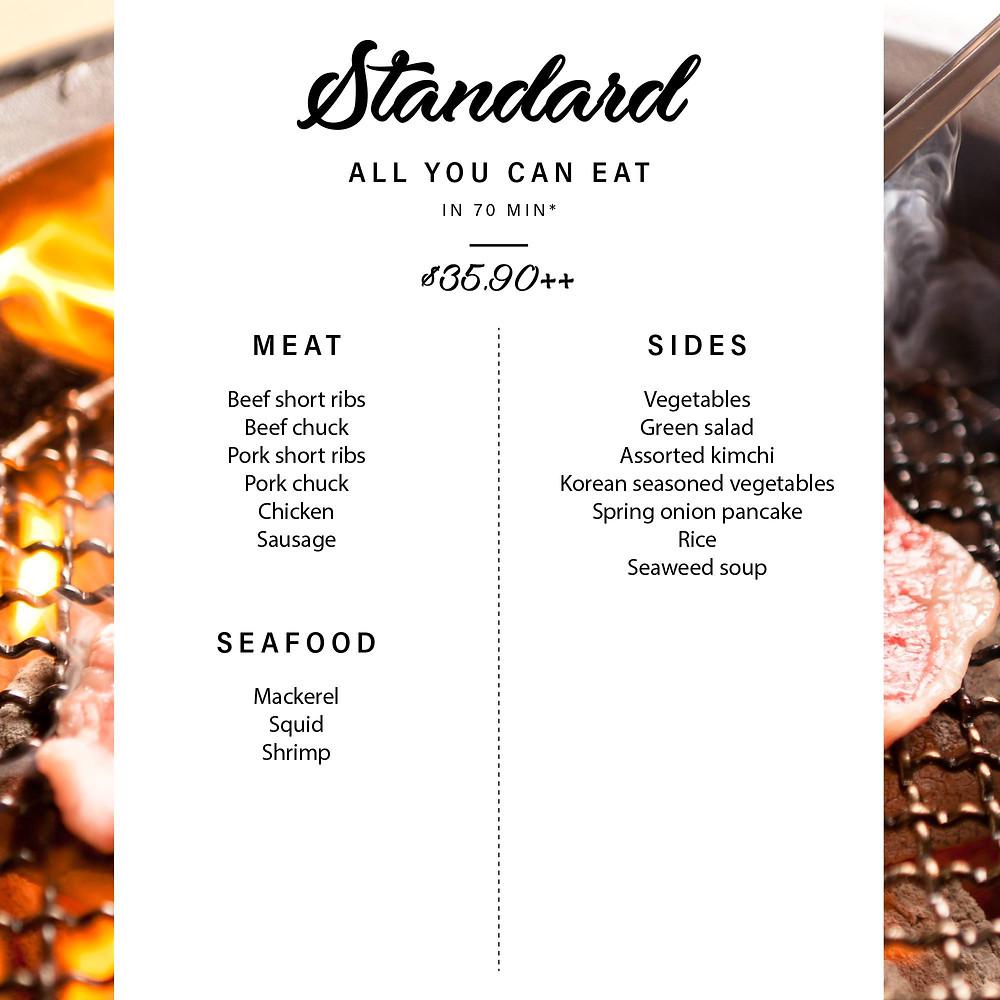 Yakiniku Heijoen Dinner Buffet - Standard