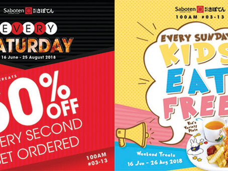 Exclusive Weekend Promotions at Saboten