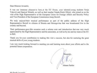 Johann Sattler uputio pismo Basics školi i zahvalio se na saradnji