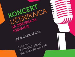 Koncert učenika/ca sa Odsjeka za pjevanje