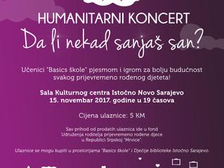 """Humanitarni koncert """"Da li nekad' sanjaš san?"""""""