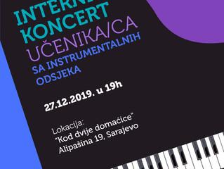 Interni koncert učenika/ca sa instrumentalnih odsjeka