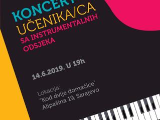 Koncert učenika/ca sa instrumentalnih odsjeka