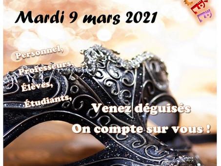 Journée Carnaval le 9 mars 2021!