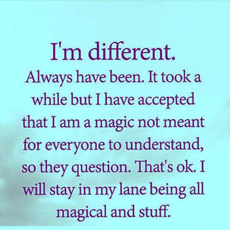 💫 I'm... Different