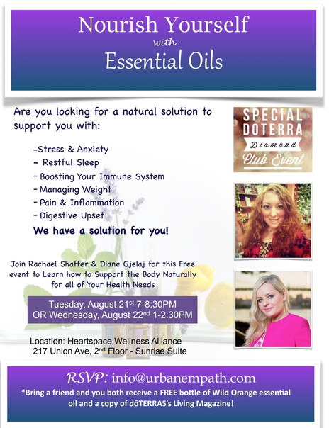 RSVP for NOURISH YOURSELF WITH ESSENTIAL OILS: A Special Diamond Club Event in Altoona, PA!