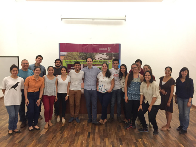 With my students in Paraguay