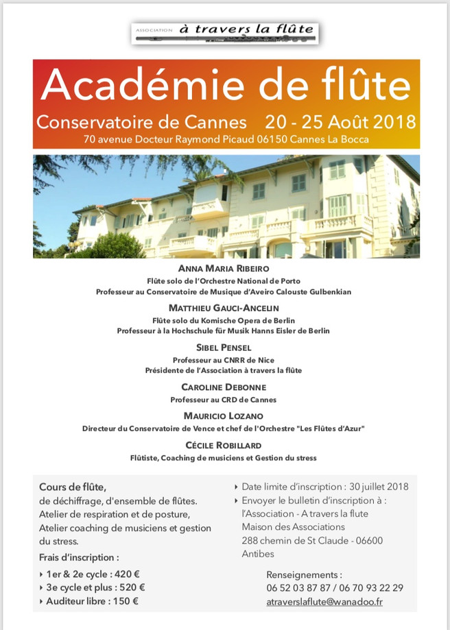 Cannes Flute Academy