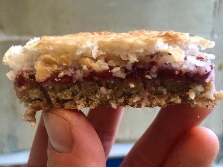 Coconut, Almond and Raspberry Slices