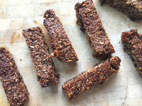 Date, oat and seed bars (not a flapjack)