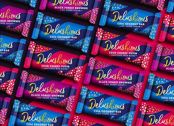 Large mixed box of Delushious cakes (30)