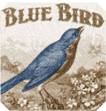 blue bird label