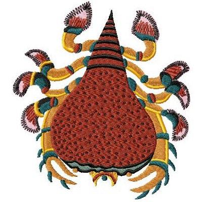 peer-krabbe, cancre poirre plate 167