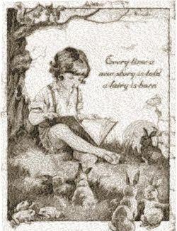 reading to rabbits