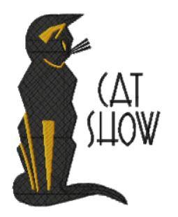 cat show art deco poster c.1930