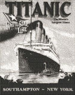 vintage titanic poster c.1912