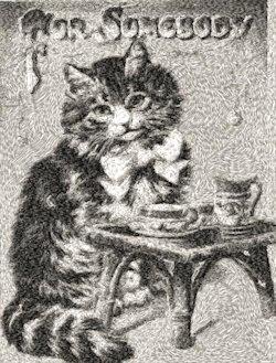feline tea time