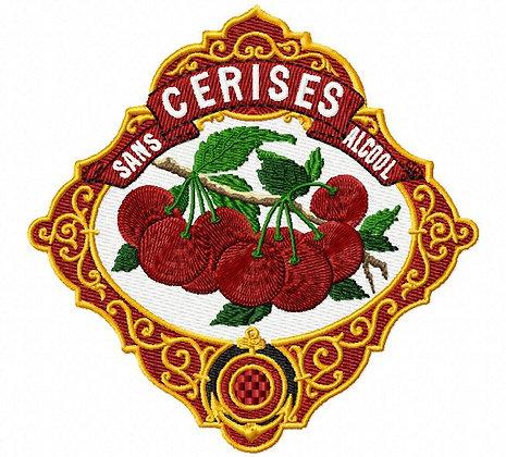 vintage cherries label