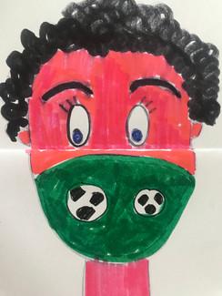 Fußballmaske