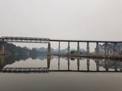 Bushfire Smoke Under Rail Bridge