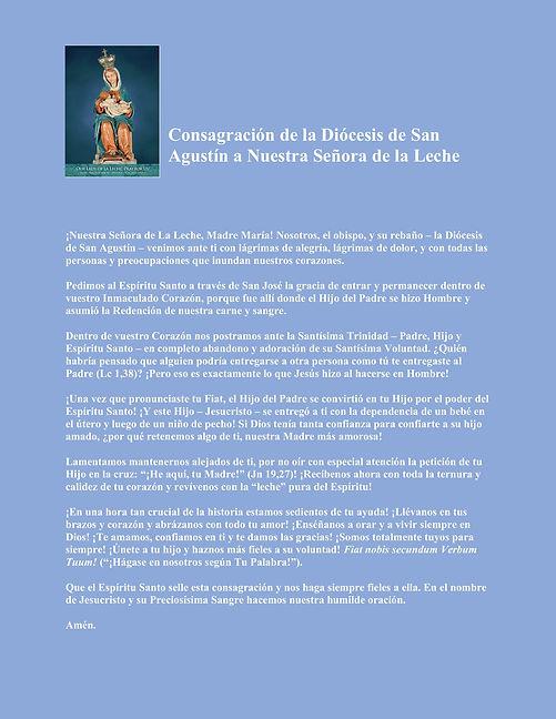 Diocesan Consecration Spanish