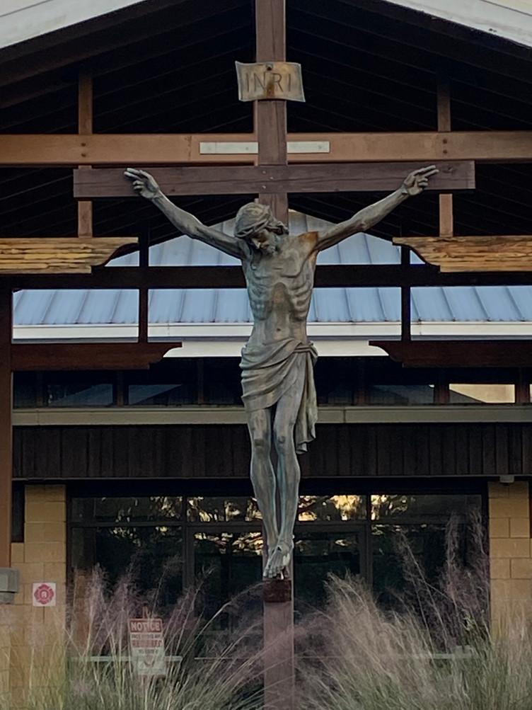 Outside Church Crucifix