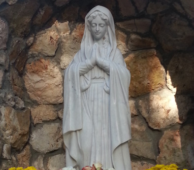 Our Lady's Grotto Close Up